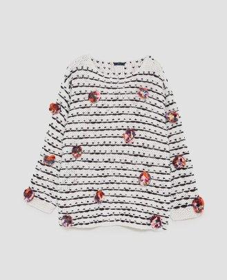 Jersey pompones colores - Zara